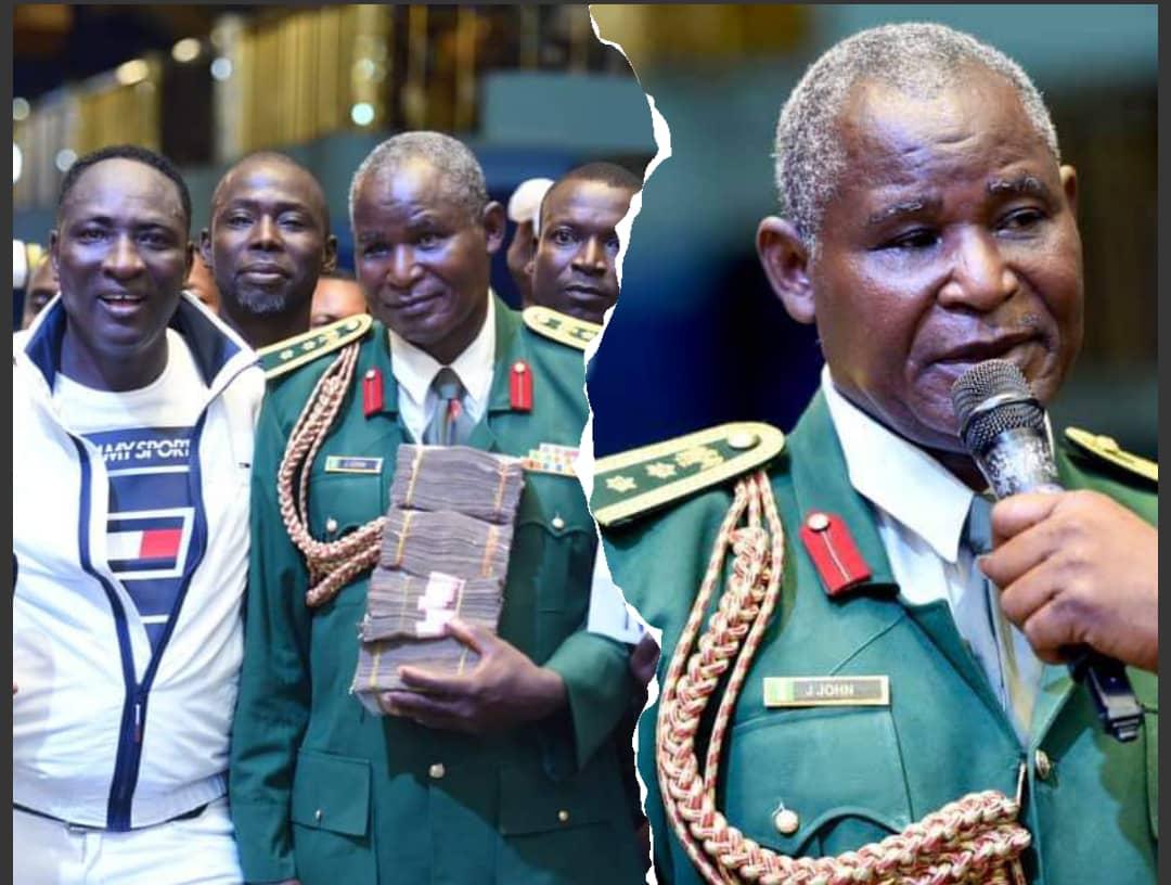 Renown Billionaire Prophet, Jeremiah blessed Military General JJ John with over 1.5million Naira
